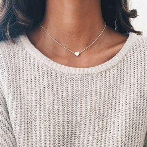 Heart Choker Necklace (Silver)